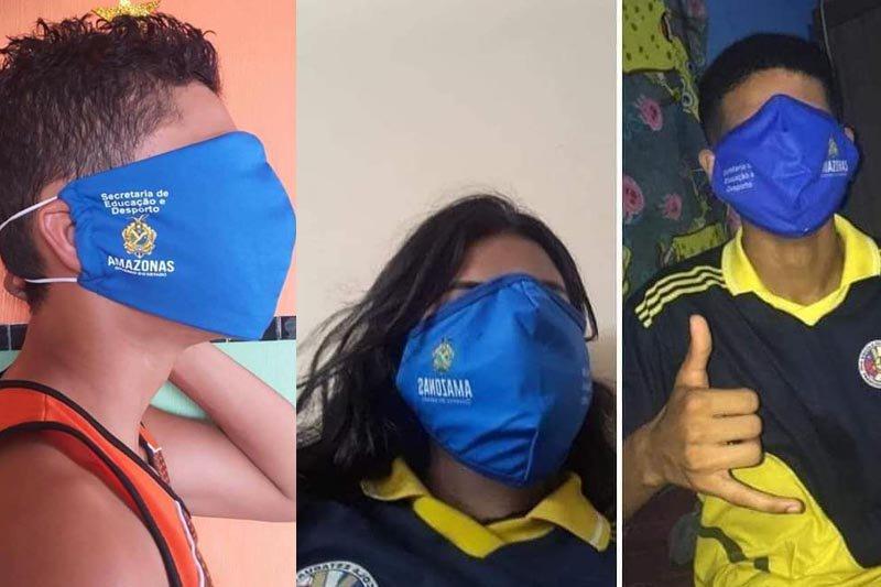 Máscaras fornecidas aos alunos não se ajustam bem ao rosto
