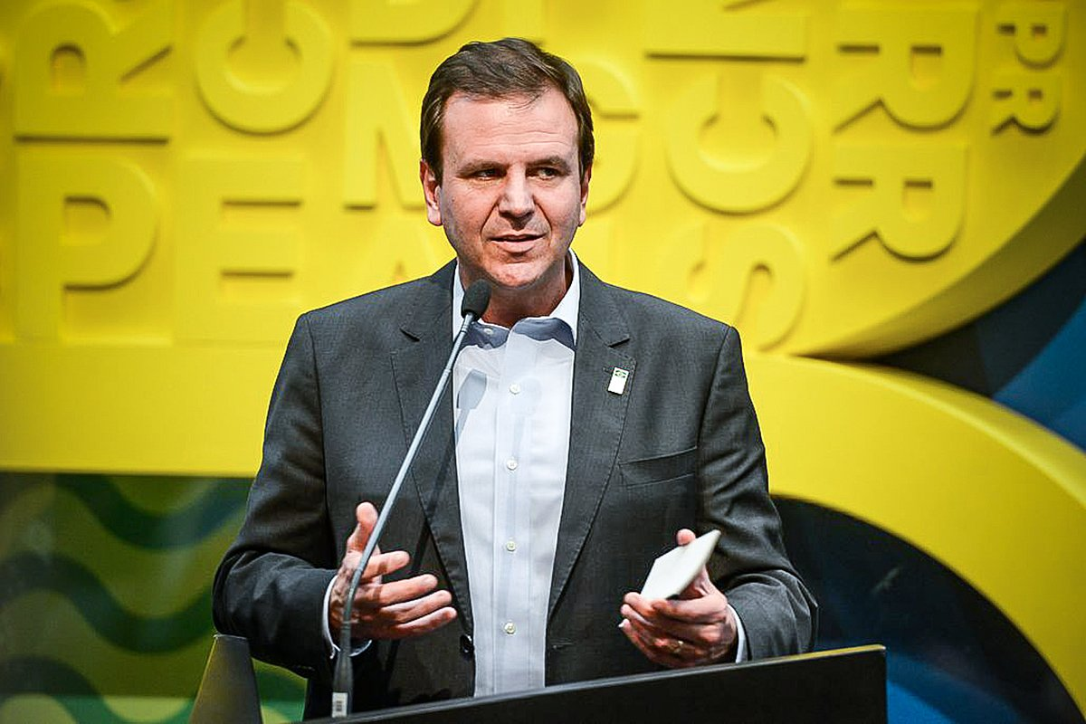 O candidato ao governo do Rio, Eduardo Paes