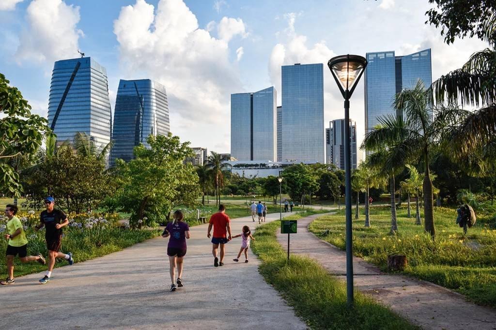 Parque do Povo; Fitness; caminhadas, Vila Olimpia; Prédios Comercial