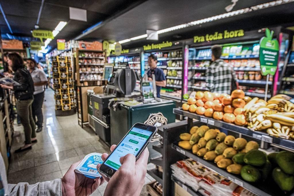 Loja do Pão de Açucar Minuto; Supermercado; compras; Aplicativo; celular