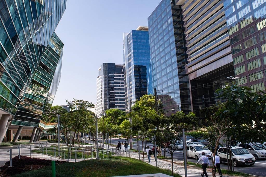 AV Faria Lima; prédios comerciais