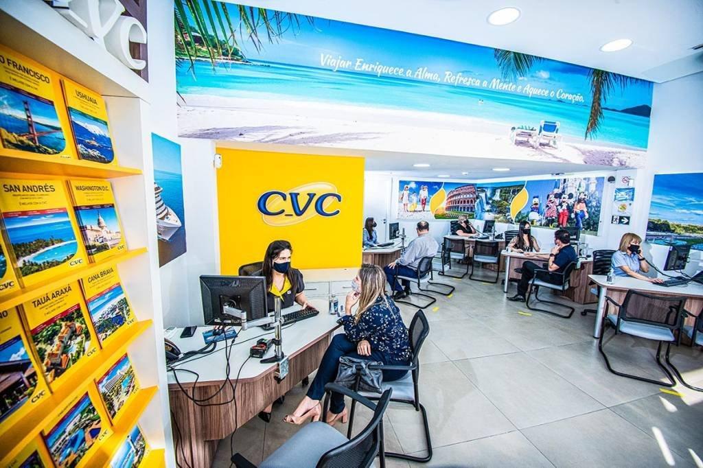 Loja CVC; São Paulo; Primeira Loja; Atendimento, Máscara; Turismo