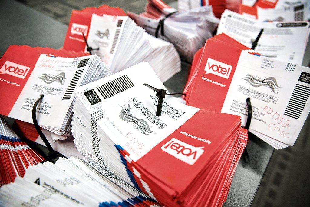 Cédulas para votação pelo correio: no centro da polêmica das eleições americanas deste ano