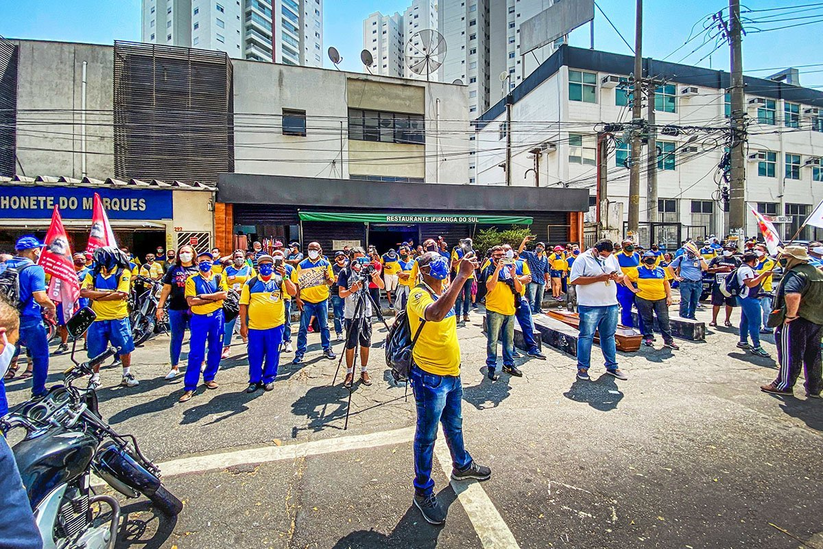 Greve dos correios_vila Leopoldina_SP_manifestação terça feira