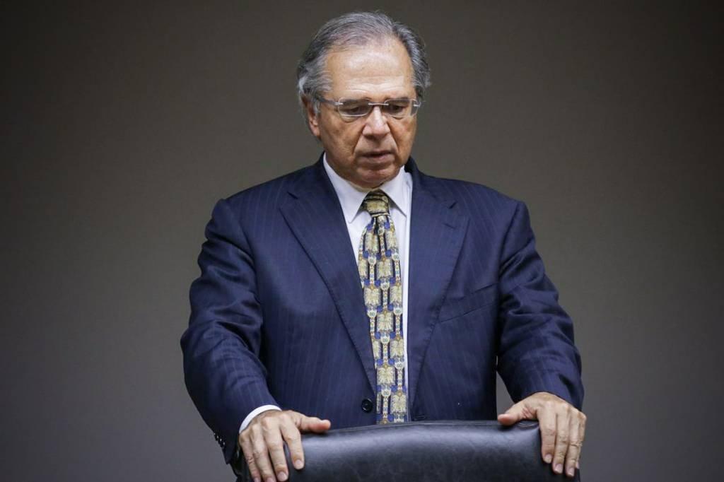 Entrevista coletiva do ministro da economia, Paulo Guedes