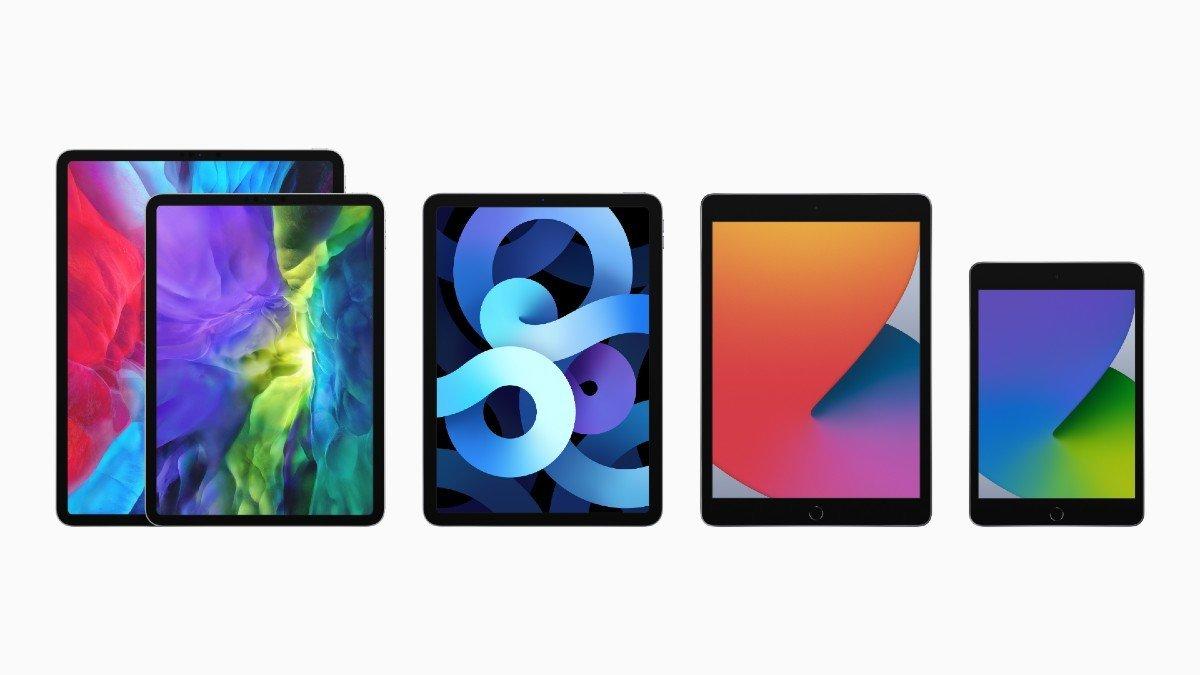 Linha de iPads, da Apple