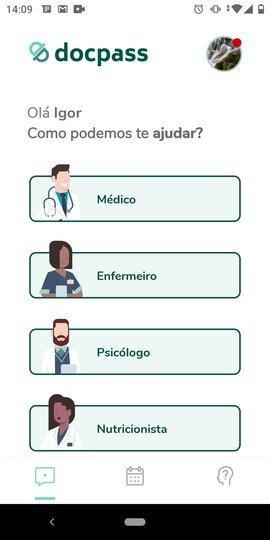 Tela do aplicativo DocPass