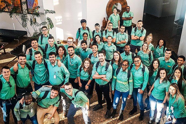 Grupo de Trainees 2019 em viagem pelas operações da Vale