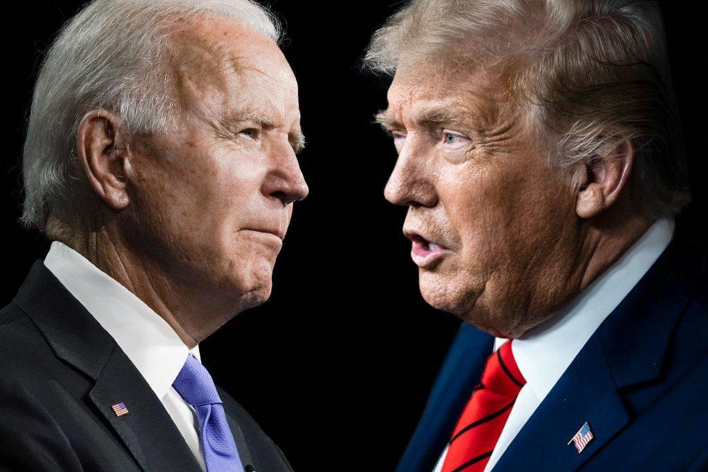 Trump e Biden trocam farpas na reta final da campanha eleitoral | Exame