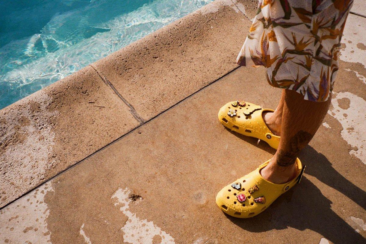 Justin Bieber e os Crocs