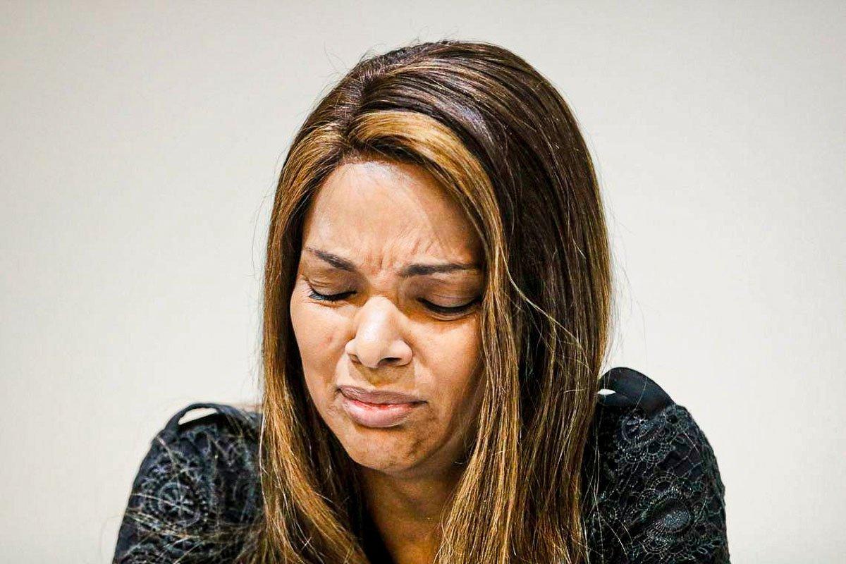 Rio de Janeiro -25 06 2019 A deputada federal Flordelis (PSD) fala sobre a morte de seu marido, o pastor Anderson do Carmo. (Foto: Fernando Frazão Ag.Brasil