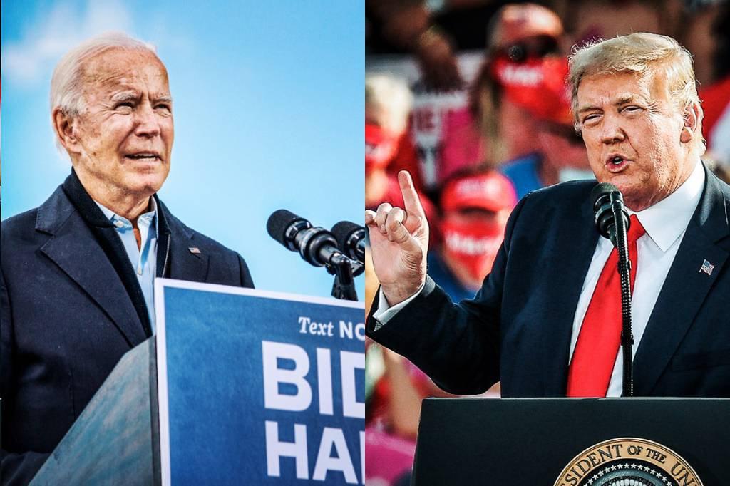 Eleições americanas: Donald Trump e Joe Biden