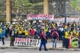 Manifestação realizada em Campinas Greve - Correios