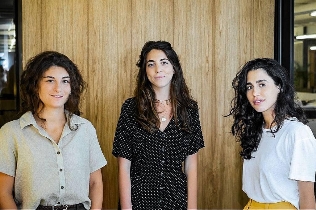 SafeSpace: da esquerda para a direita, Giovanna Sasso, Rafaela Frankenthal e Natalie Zarzur, fundadoras da SafeSpace