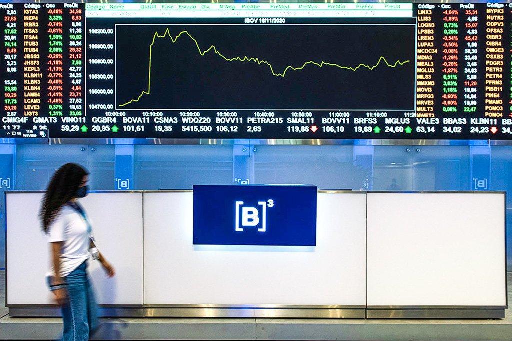 B3; Bolsa; Bovespa; Painel; Investimento; Ações Foto: Germano Lüders 16/11/2020