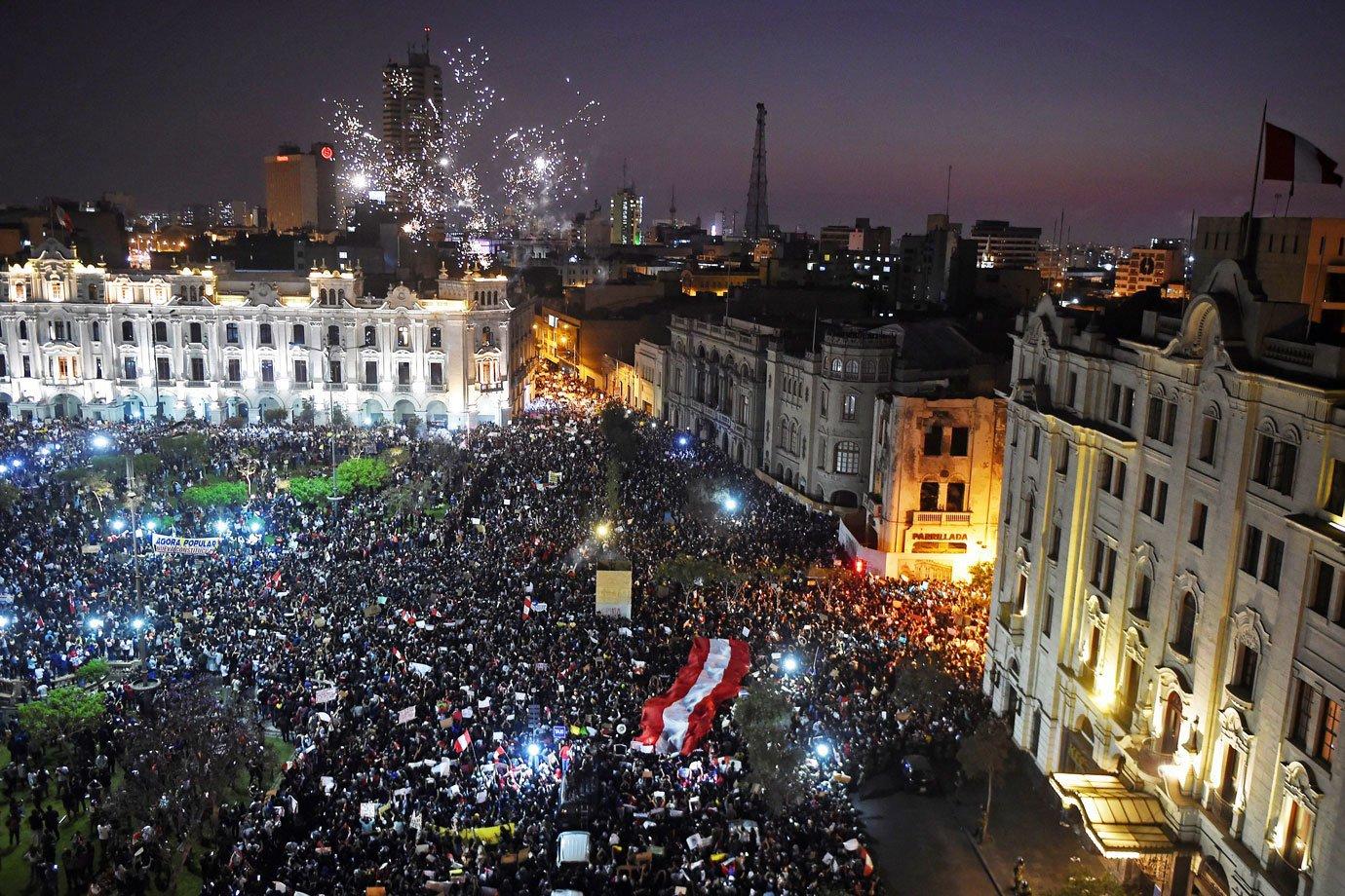 Os protestos têm acontecido desde o dia 9 deste mês, quando o então presidente, Martín Vizcarra, sofreu impeachment por parte do congresso peruano.