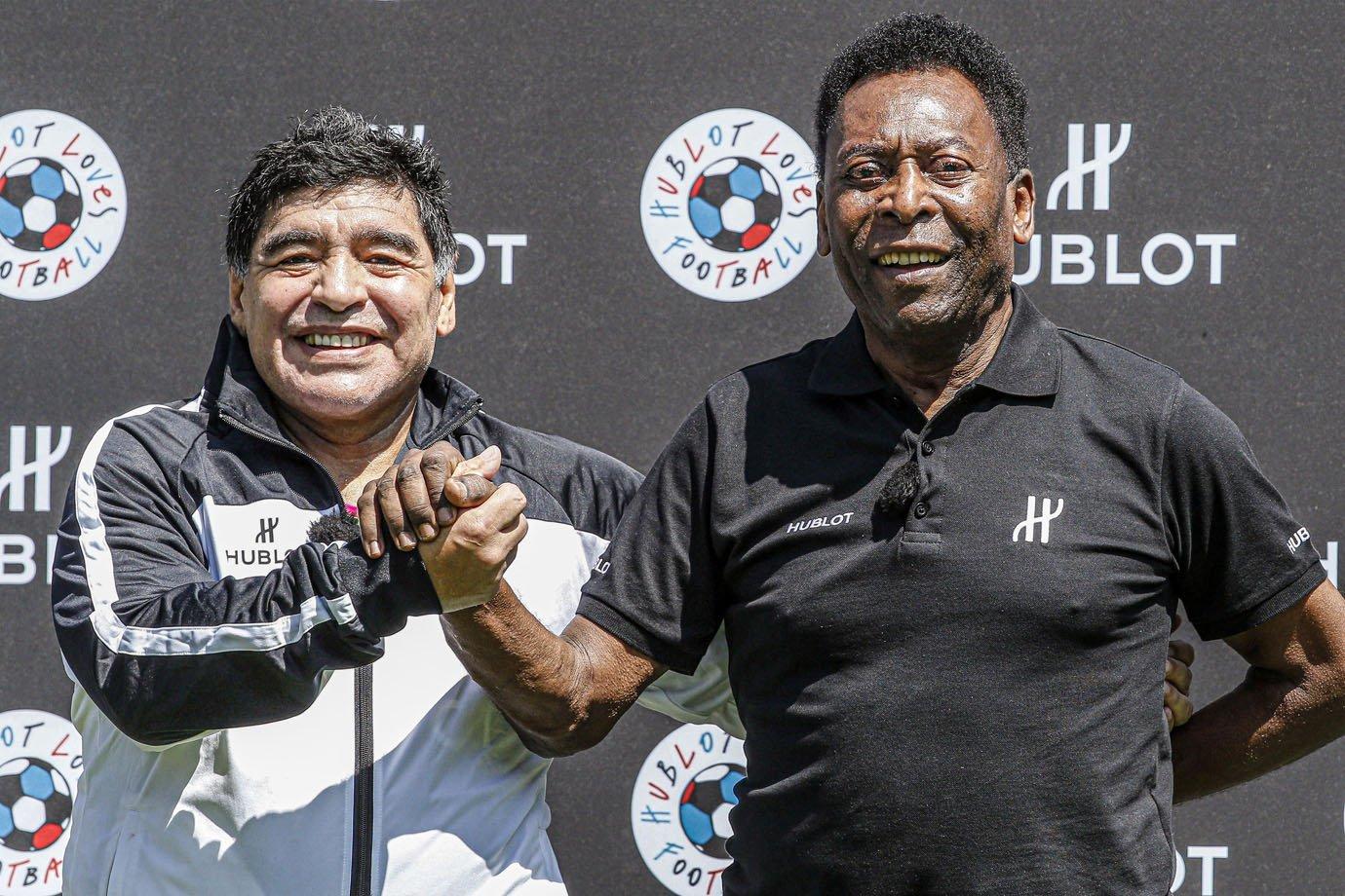 Maradona e Pelé em campanha da Hublot: união