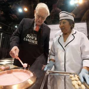 Warenn Buffett em visita a See's Candies