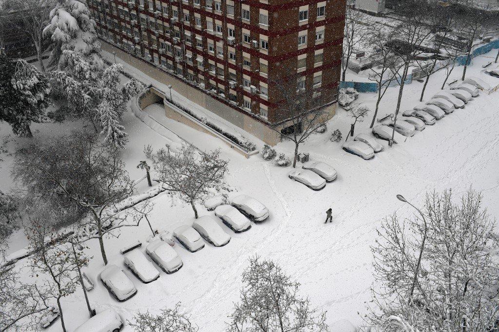 Nevasca histórica atinge a Espanha e deixa mortos