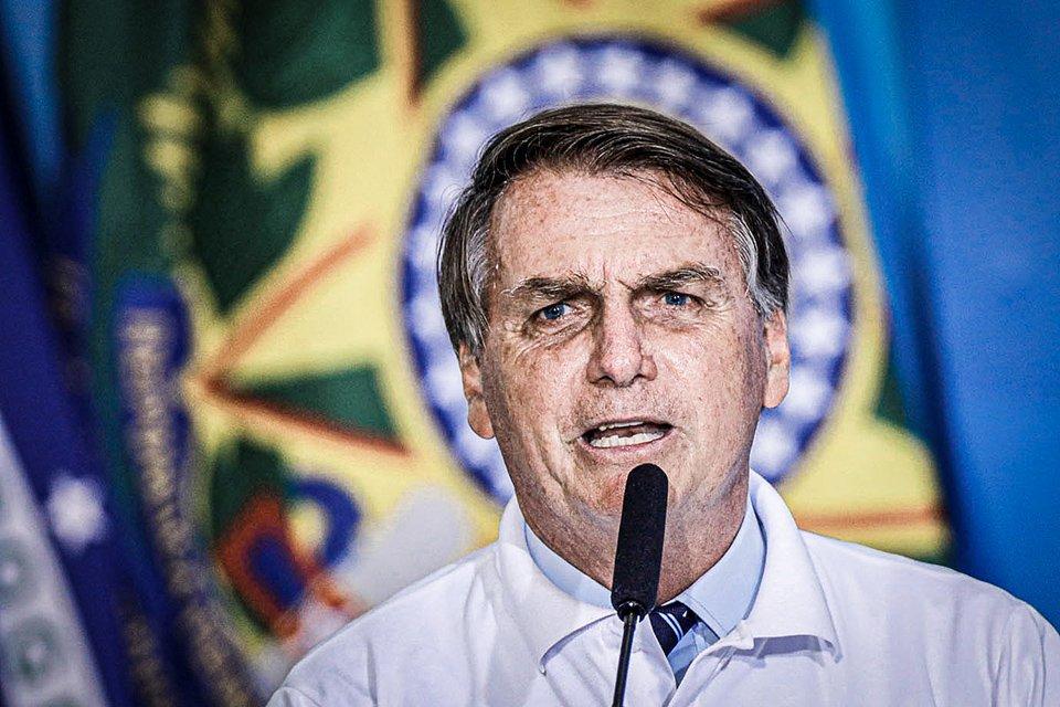 O presidente do Brasil, Jair Bolsonaro, fala durante cerimônia no Palácio do Planalto em Brasília, Brasil, 12 de janeiro de 2021. REUTERS / Adriano Machado
