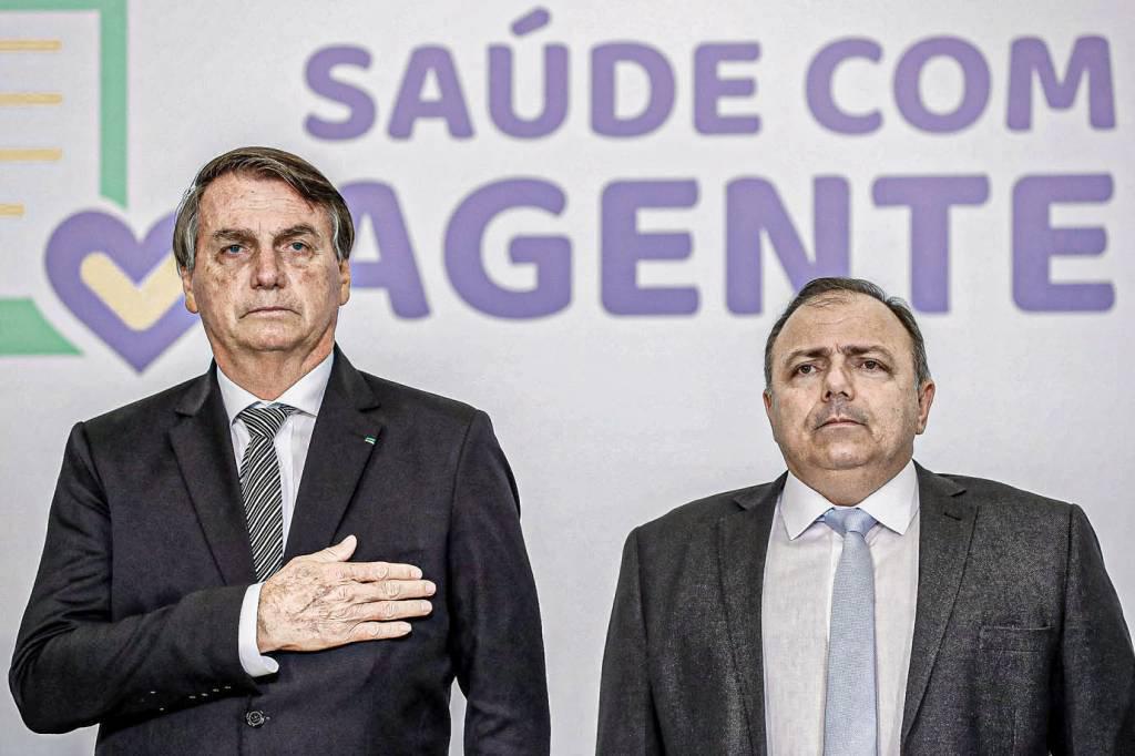 """Lançamento do Programa """"SAÚDE COM AGENTE"""" (Brasília – DF, 08/12/2020) Lançamento do Programa """"SAÚDE COM AGENTE"""". Foto: Alan Santos/PR"""