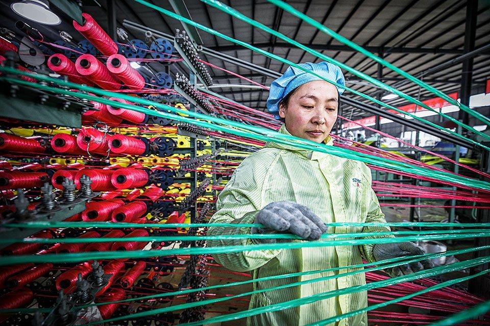 Linha de produção em Jiangsu, leste da China: indústria do país se beneficiou sobretudo das exportações durante a pandemia