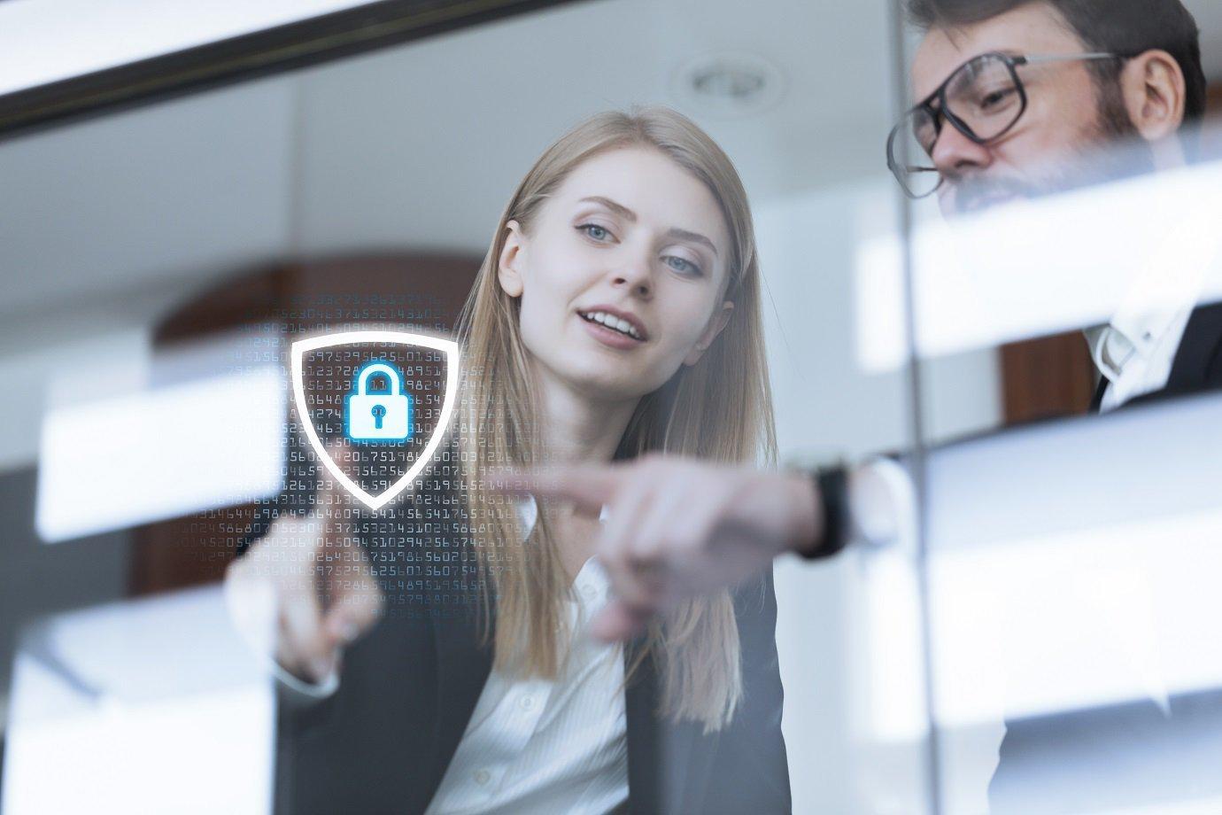 Proteção de dados sistemas de segurança cibernética para rede de negócios