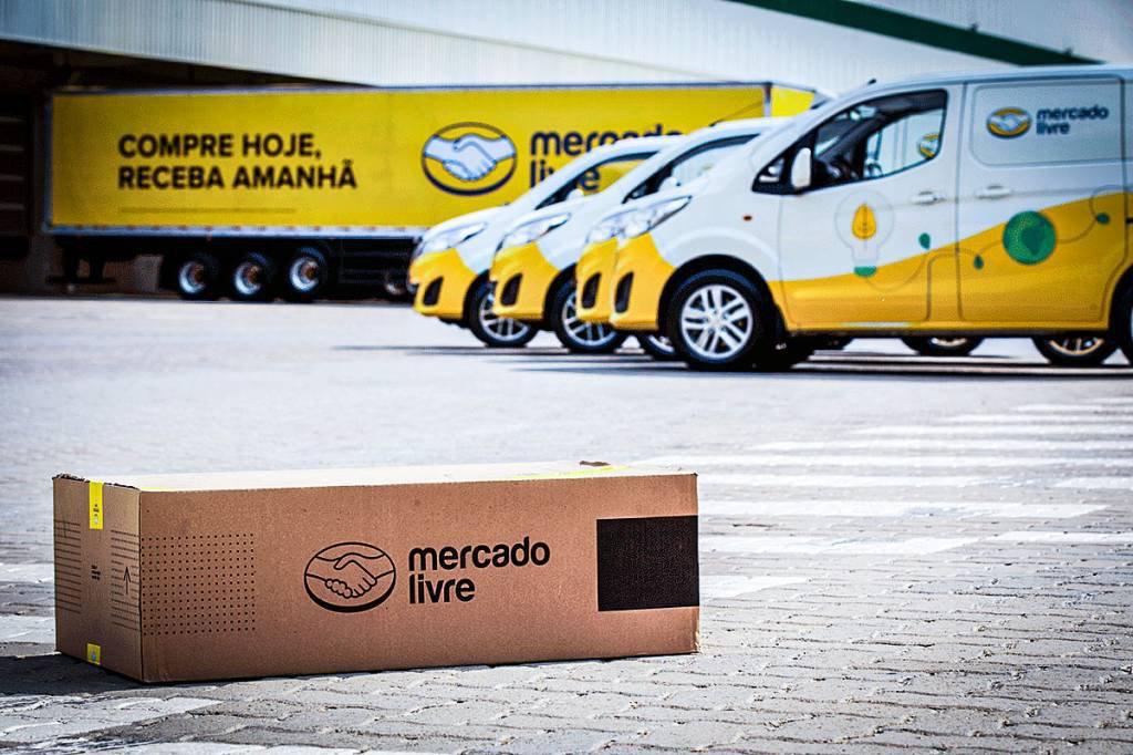 Mercado Livre entregas, caminhões Mercado Livre