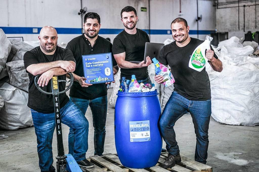 Sérgio Finger, Gustavo Finger, Renan Vargas e Rafael Dutra - Fundadores da Trashin