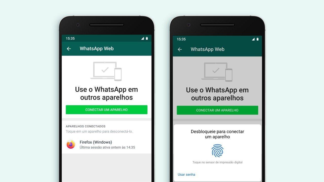 WhatsApp - autenticação biométrica 2