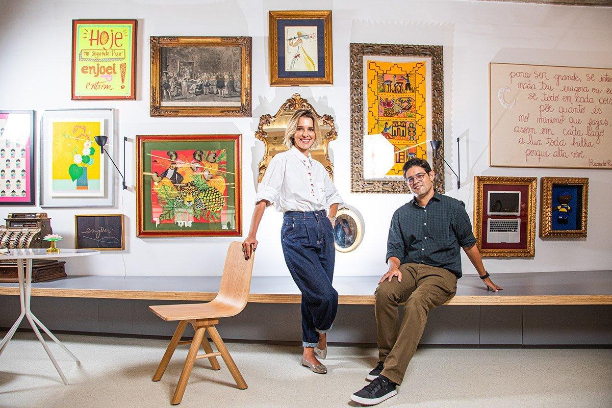 Ana Luiza Maclaren e Tié Lima - CEO da Enjoei Foto: Leandro Fonseca data: 05/02/2021