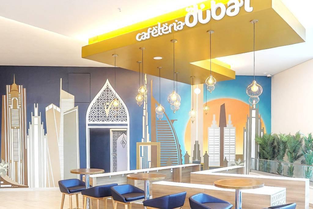 Prevent Senior unidade Dubai: decoração em homenagem à cidade nos Emirados Árabes
