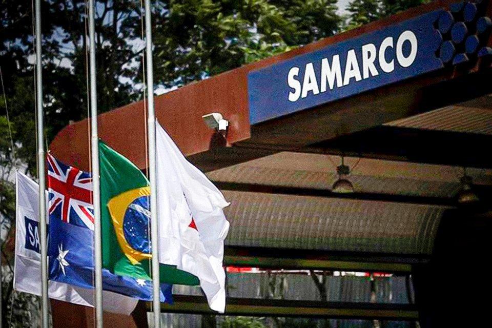Entrada da mineradora Samarco, em Mariana