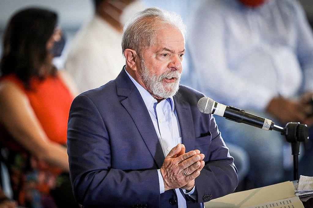 Lula em entrevista em São Bernardo do Campo