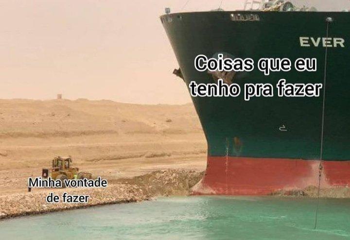 Navio encalhado no Canal de Suez vira piada e rende memes na internet | Exame