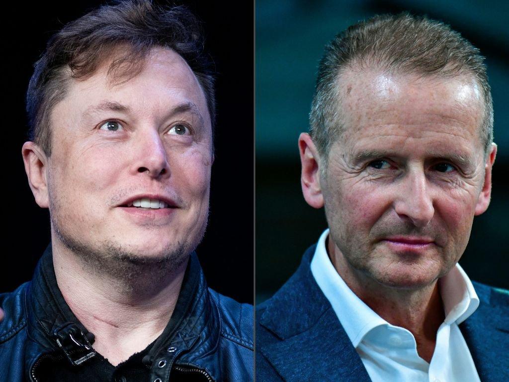 Elon Musk e Herbert Diess