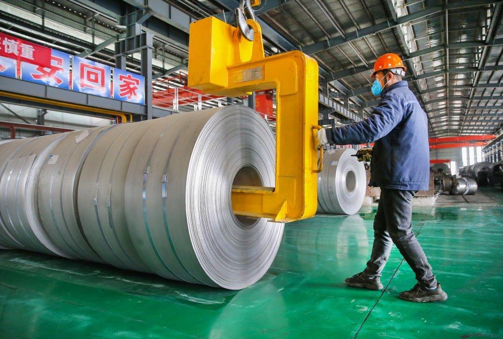 Fábrica de aço na China