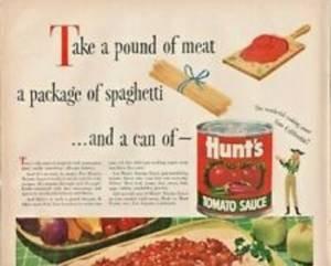 A facilidade de uso do molho de tomate pronto era o suficiente para estimular a compra