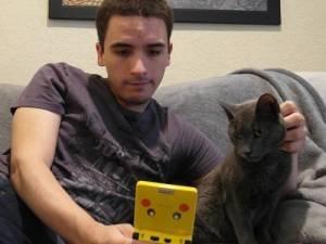 Chris Torres e seu gato Marty, inspiração para o Nyan Cat
