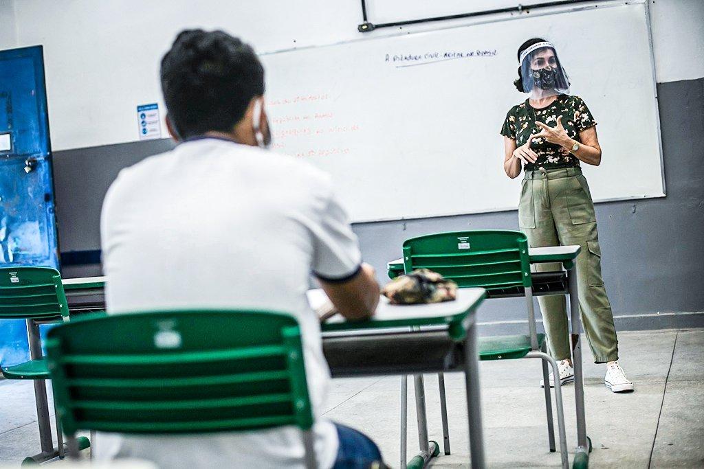 Escolas na pandemia; Sala da aula na Pandemia
