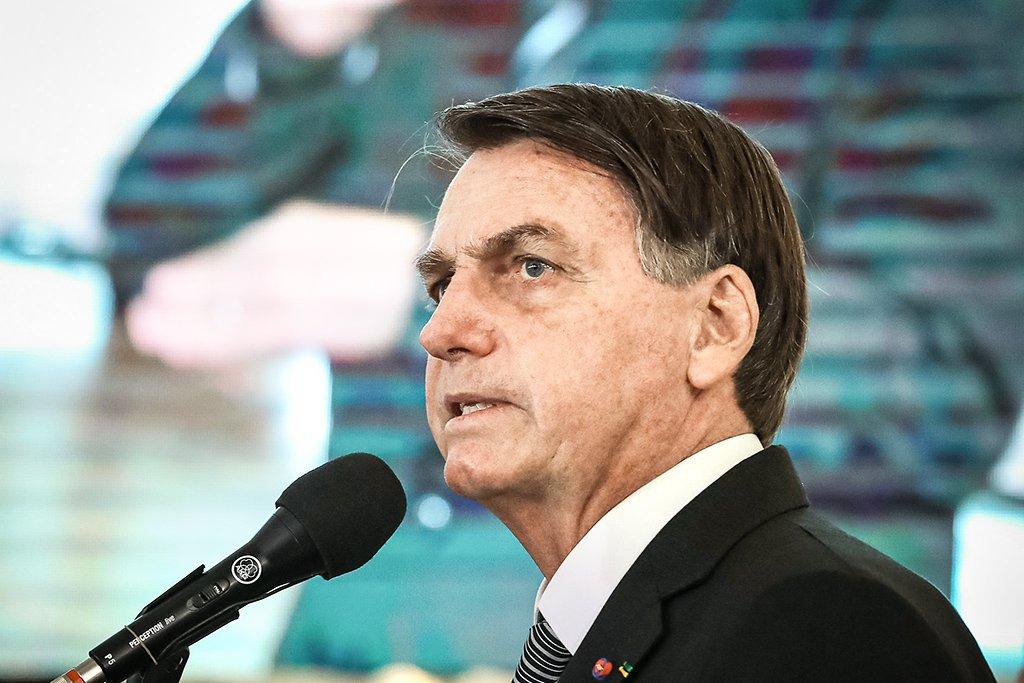 Bolsonaro durante solenidade de Promoção de Oficiais-Generais.