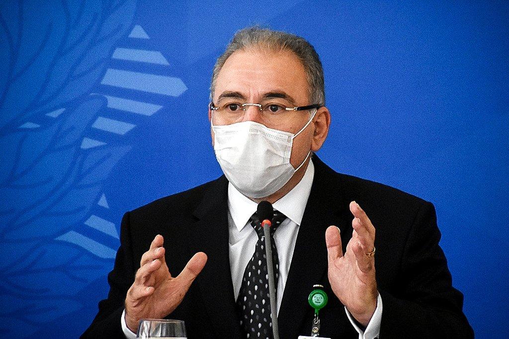 O ministro da Saúde, Marcelo Queiroga, participou, na manhã desta quarta-feira (31/03), da primeira reunião do Comitê de Coordenação Nacional para Enfrentamento da Pandemia da Covid-19