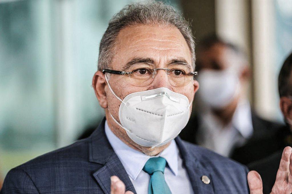 Queiroga: ministro da Saúde