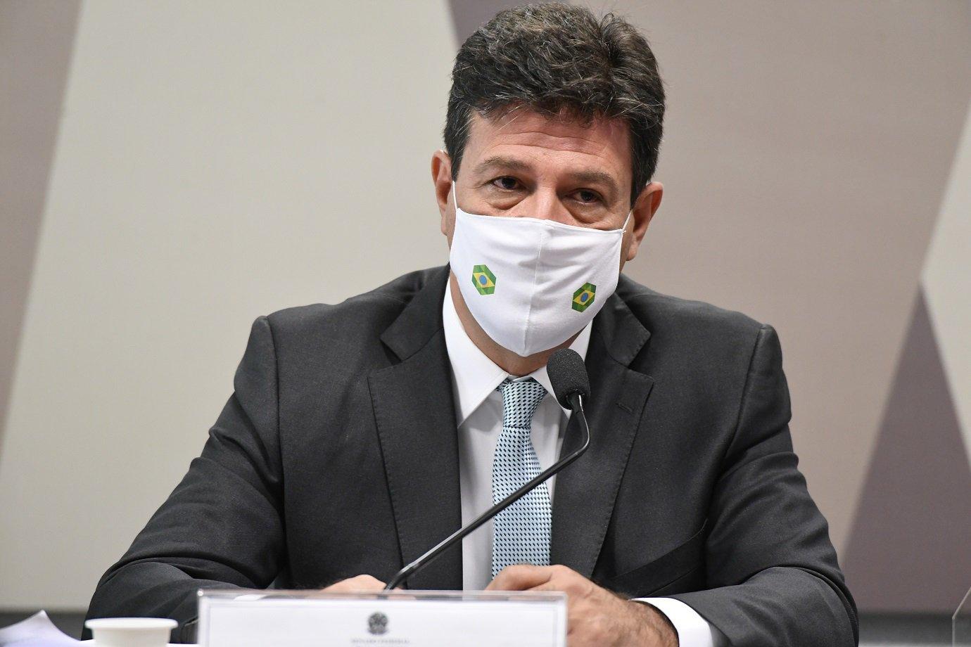 Ex-ministro de Estado da Saúde, Luiz Henrique Mandetta depõe na CPI da Covid