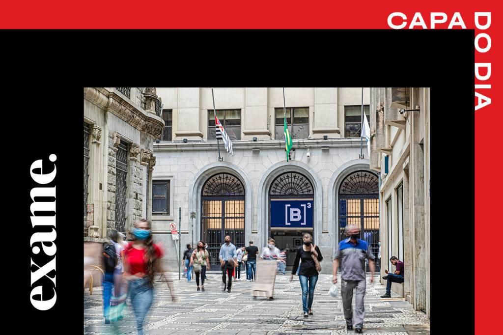 Fachada do prédio da B3, a bolsa brasileira, no centro de São Paulo: reabertura da economia cria oportunidades de investimento em ações