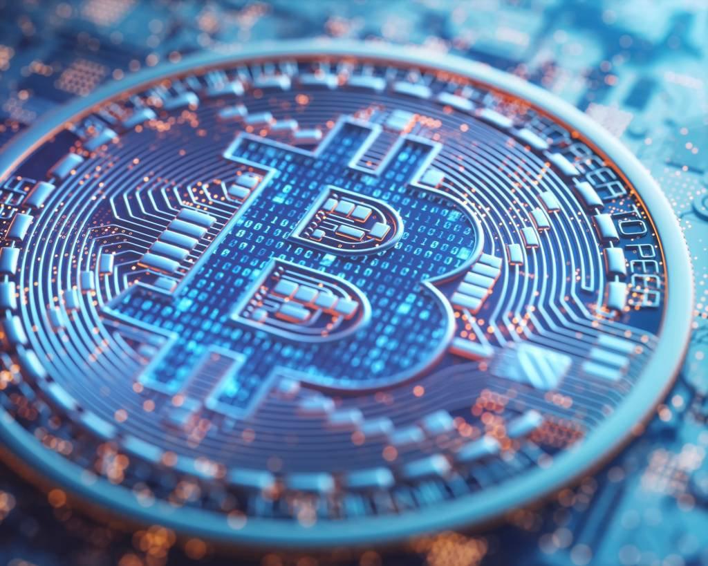Imagem gráfica de bitcoin