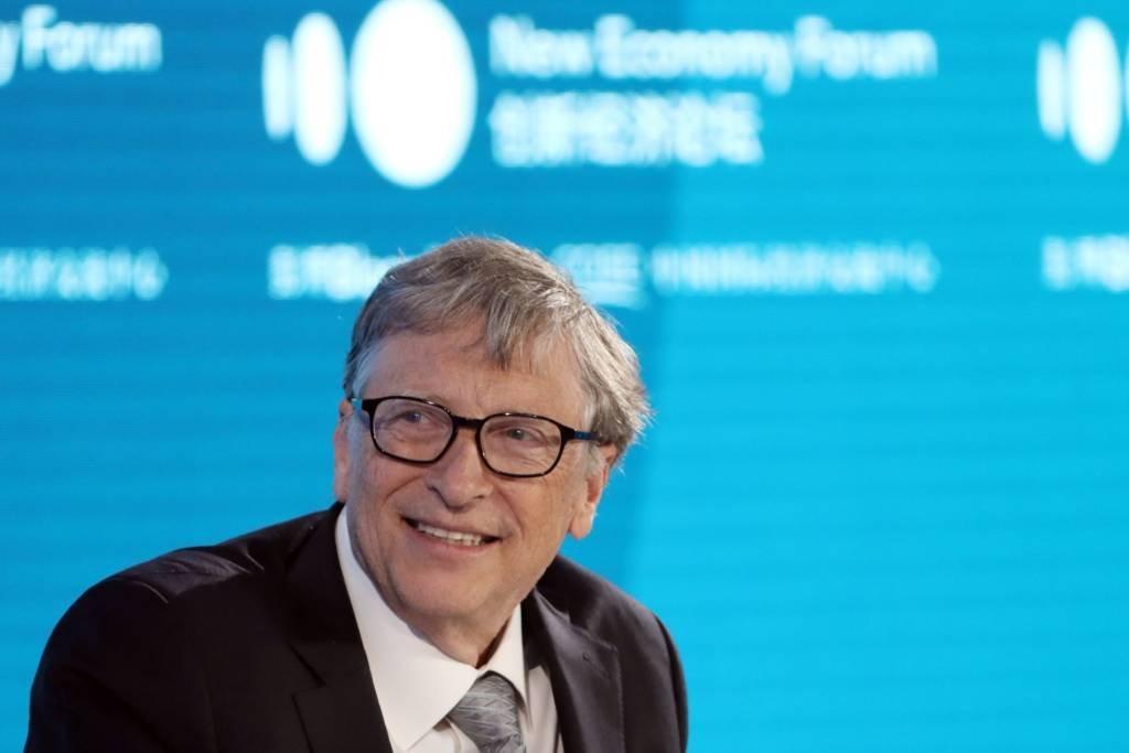 Bill Gates no evento Novo Fórum Econômico, em Pequim, na China