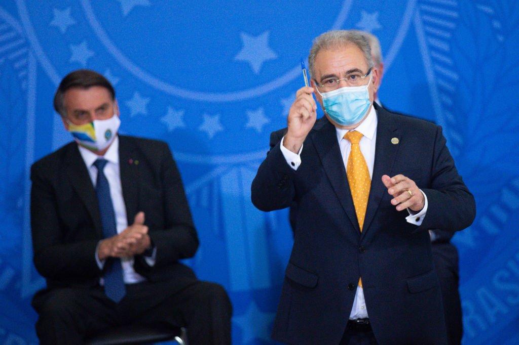 Ministro da Saúde, Marcelo Queiroga, e o presidente Jair Bolsonaro