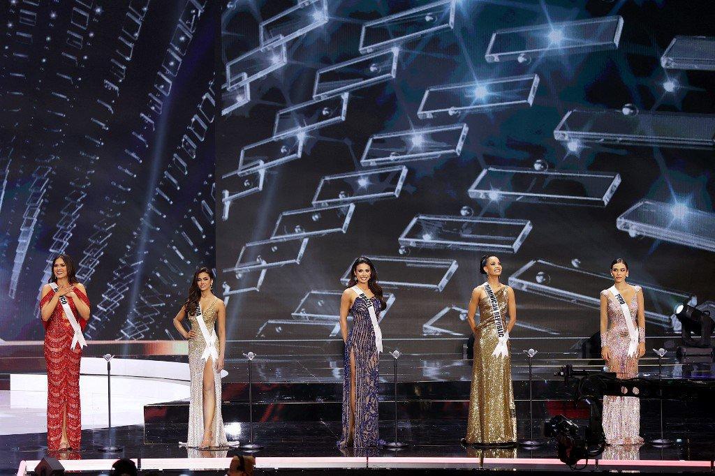 Miss Universo 2021: Miss México, Andrea Meza, Miss Índia, Adline Castelino, Miss Brasil Julia Gama, Miss República Dominicana, Kimberly Jiménez e Miss Peru, Janick Maceta Del Castillo