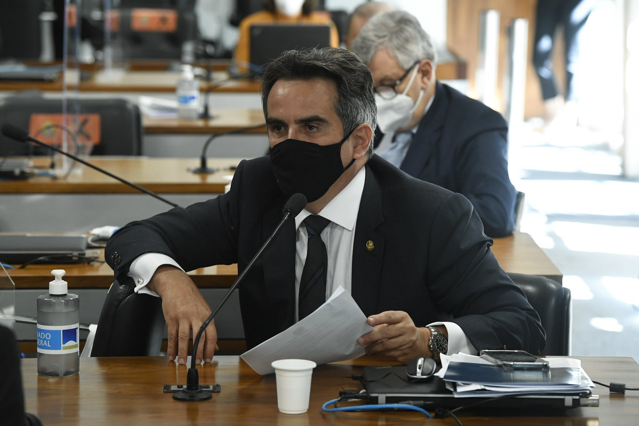 Senador Ciro Nogueira durante CPI da Covid